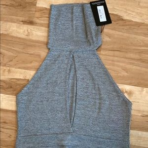 Plus size sweater crop top